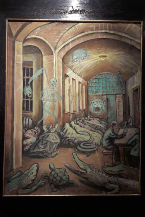 Festmény az OPNI-tárlaton